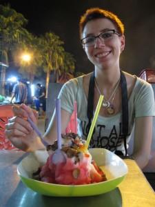 Abendessen auf dem Nachtmarkt