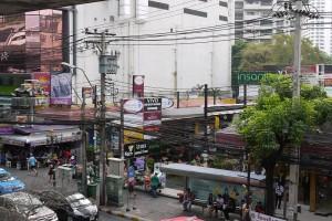 Strassengewirr Bangkok
