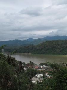 Blick von Phu Si nach Luang Prabang