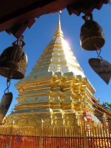 Goldener Chedi des Wat Suthep