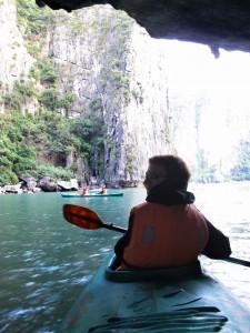 Kayakfahren im Meer