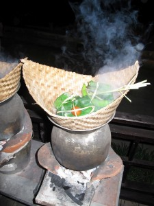Laotische Kochstelle