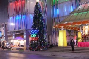 Riesiger Weihnachtsbaum
