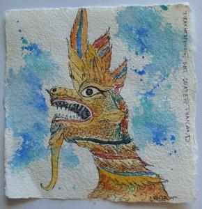 gemalt - Drachenkopf