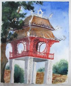 gemalt - Eingangstor zum Literturtempel