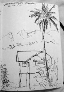 gemalt - Haus nahe Tad Sae Wasserfall
