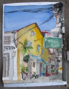 gemalt - Old Quarter Hanoi