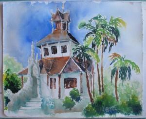 gemalt - im Wat Chedi Luang