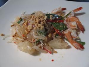 Pomelosalat mit Shrimps
