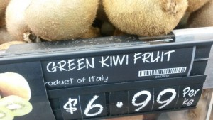 Kiwis aus Italien