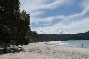Blick über New Chums Beach