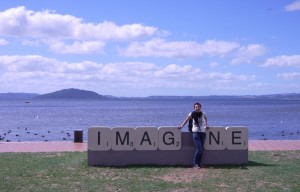 Imagine your at Lake Rotorua