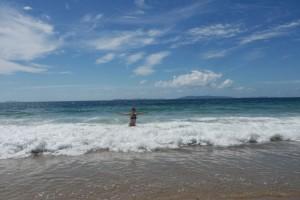 Ina in den Wellen