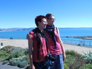 Ina und Mili am Bluff Hill Lookout