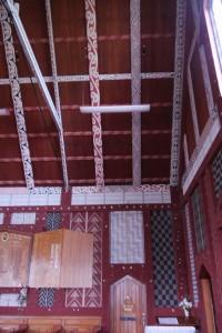 Kirche in Tikitiki mit Maoriverzierung