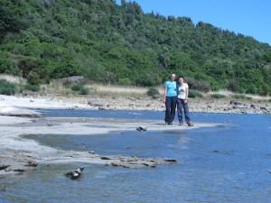 Mili und Ina am Lake Waikaremoana