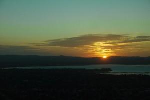 Sonnenuntergang über Auckland