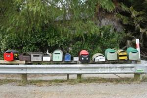 Viele Briefkästen