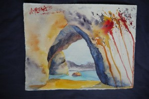 gemalt - Cathedral Cove